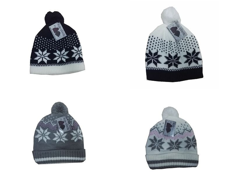 100% Acrylic Knitted Beanie Hat for winter season
