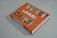 Case binding hard cover book with H&T band and Ribbon bookmark