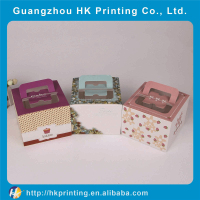 luxury custom birthday cake paper box with handle