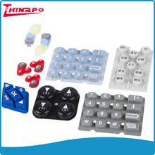 custom conductive pills painted silicone rubber keypad button laser etching logo