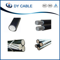 low voltage PVC/XLPE insulated copper conductor 50mm2 ABC cable