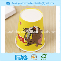 PLA coated biodegradable 6oz paper cup for hot drink