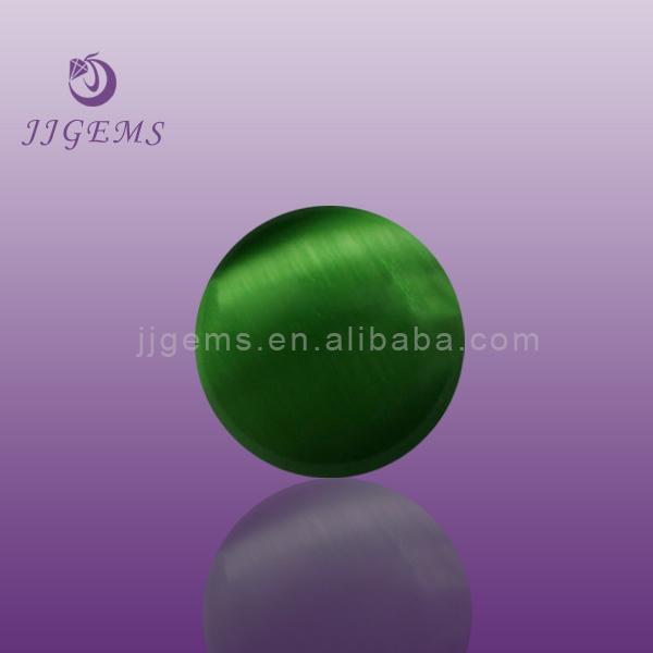 Good reflective emerald cat's eye for sale