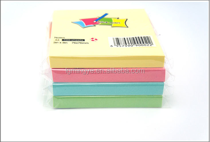 2015 Hot various colors paper custom-made sticky memo pad