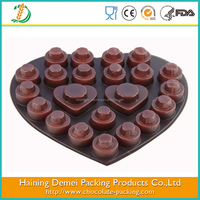 New Design Customized Brown/Silvery/Golden Heart Shape Chocolate Blister Tray