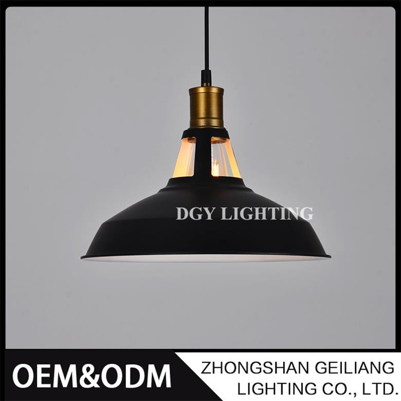 Round hanging aluminum metal ceiling led pendant lamp for restaurant