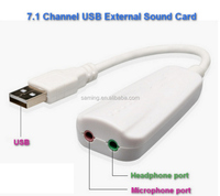 3D USB 7.1 Channel external sound audio card