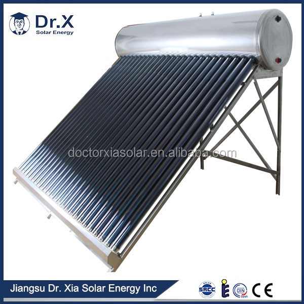 high effective of pre-heating rooftop solar water heater