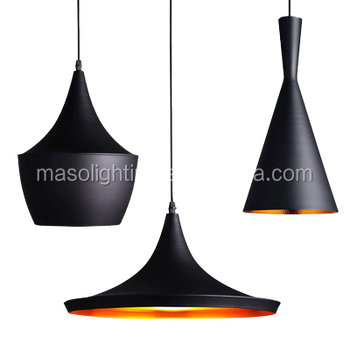 Home decoration chandelier black restaurant pendant lighting modern black pendant light
