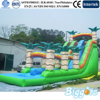 Jungle Inflatable Water Slide Bouncer Jumper Water Park Equipment For Sale