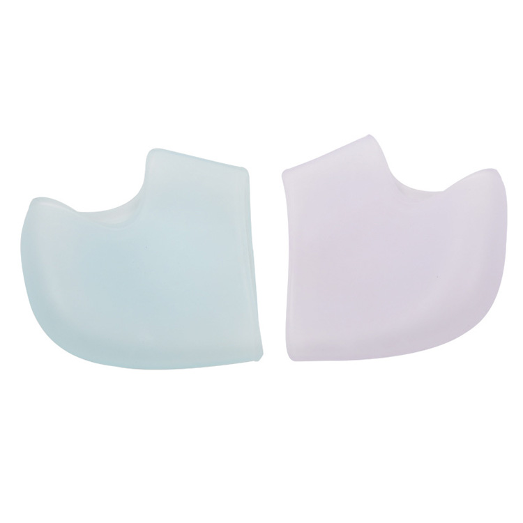 foot healthcare product prevent rubbing white silicone gel heel cushion