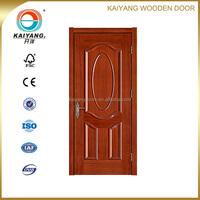 Top quality Middle east interior solid meranti/teak veneer wooden 2 panel design door
