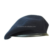 Custom embroidered military mens wool beret