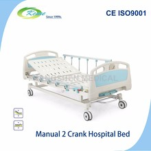 Manual 2 cranks hospitals furniture bed for disabled people