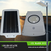 Factory price aluminum all in one 6W integrated motion sensor garden led solar light