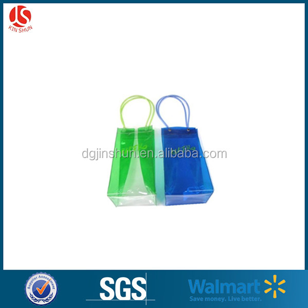 promotional advertising custom printed eco friendly pvc wine bag