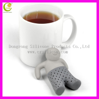 OEM/ODM silicone tea infuser, silicone with stainless steel tea infuser,wholesale flower tea infuser