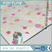 water proof laminated clear laser table cloth used for decoration