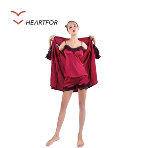 High Quality Low Price Babydoll Sexy Indian Nighty Picture Sexy Nighty For Honeymoon Images three pieces pajama robe