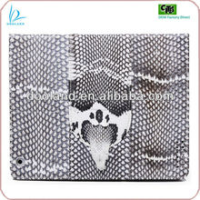 2013 newest snake skin case for ipad 4