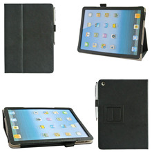 China Manufacturers Good Quality PU Leather Shockproof Tablet Stand Case With Stylus Holder For iPad Air