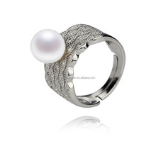 AA 8mm perfect round pearl ring genuine natural freshwater pearl ring 925 sterling silver
