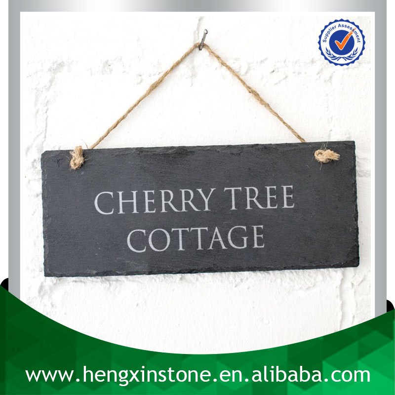 Factory Directly Sales 25*10CM Hanging Slate Blackboard