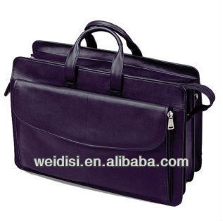 2013 polo top grain cowhide genuine leather briefcase