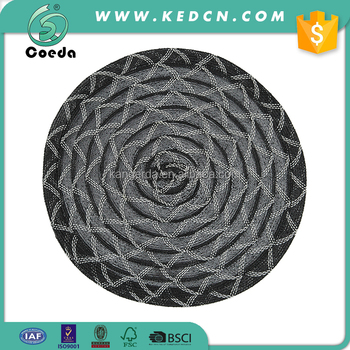 Woven Round Polyester Dining Table Placemat for Home Decor