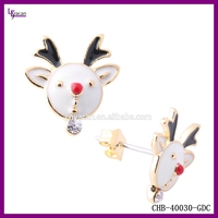 Christmas Promotional Gift 2016 14K Gold Elk Tragus Piercing Jewelry
