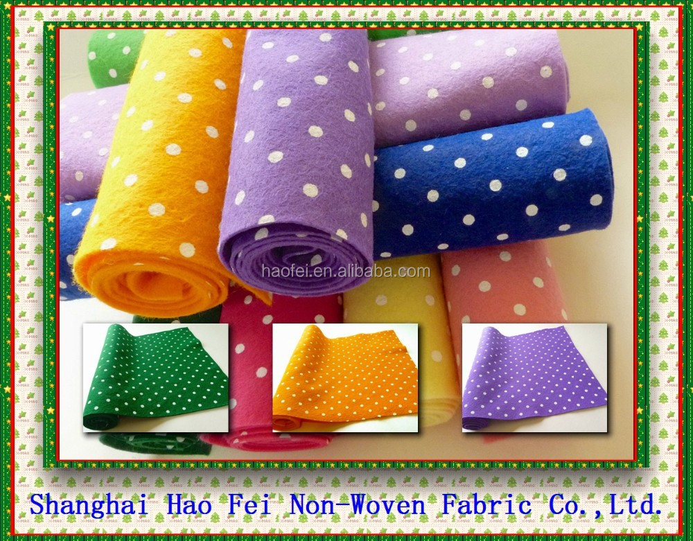 non-woven fabric patterned DIY decoration printed polyester felt