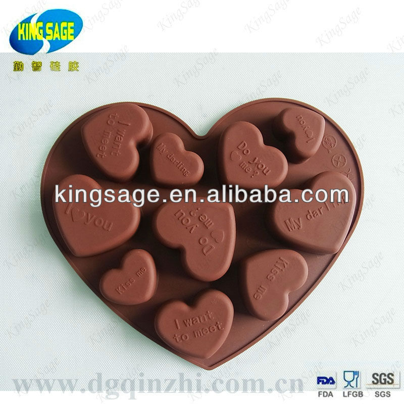 heart shaped silicone molds for chocolate