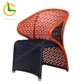All weather RTA rattan wicker outside patio chairs