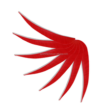 red feathers archery arrow fletching left type water drop shape real feather for arrows