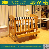 Wood Baby Cribs With Wheels For Baby Product Baby Furniture