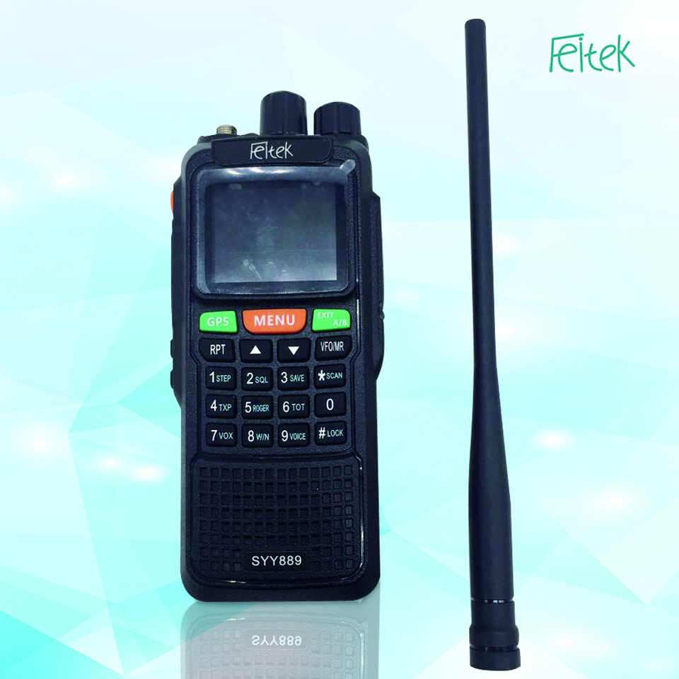 Chinese professional uhf vhf GPS Walkie Talkie SYY889 Two Way Radio With Long <strong>Communication</strong> Range