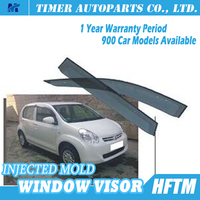 PC injected mould car window rain guards car accessories for toyota 2010 PASSO