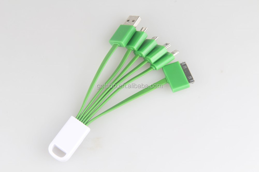 New fashion mobile phone 5 in 1 usb cable fast usb charger data wire