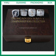 hot sale new design luxury leather San Antonio Spurs championship ring collection box