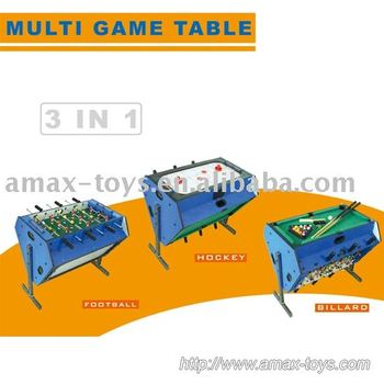 stg-277-3 3 in 1Game table,Soccer Game Billiard Game and Hockey Game