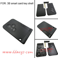 Renault Megane 3 buttons smart card shell for custom car fob card key case without logo
