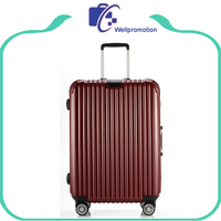 Aluminum Trolley Hardshell Suitcase Luggage With