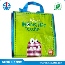 Fugang Monster Cartoon logo Custom Cheap PP Woven Lamination Shopping Bag