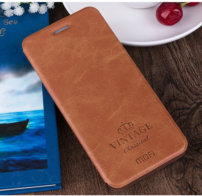 Mofi wallet flip leather case cover for xiaomi redmi note 3 pro with card solt