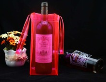 High Quality Custom PVC Plastic Wine Cooler Tote Bags