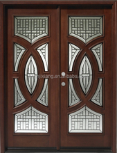 Mahogany Double Front Luxury Entry Doors, Entrance Door
