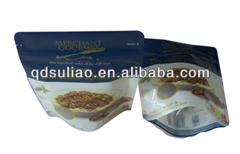 Aluminium Foil lamination Plastic Bags for Pet Food Snack Food Fruit chips with Bottom Gusset