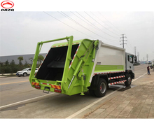 Swing arm waste compression garbage truck for sale