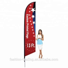 Outdoor advertising beach wind swooper feather flag with base + pole
