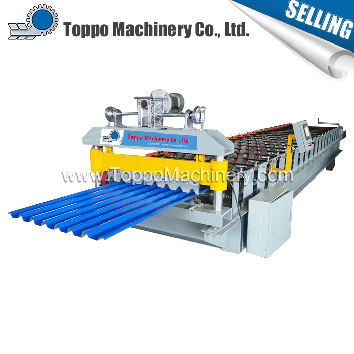 Building material high quality new design ibr corrugated metal roofing sheet stepping machine